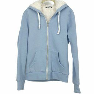Bluenotes baby blue Sherpa lined hoodie